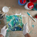 Workshop Acryl gieten (acrylic pouring)