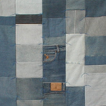 Patchwork middengroep: Jeansquilt