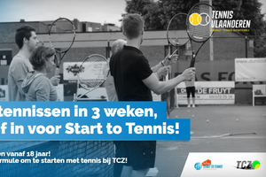 Start to Tennis bij Tennisclub Zomergem