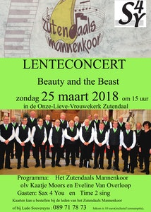 "Lenteconcert        "" Beauty and the Beast """