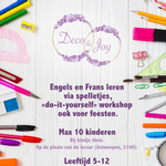 Engels, Frans en Do-it-yourself workshops voor kinderen