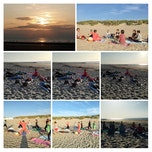 Yoga pop up op het strand in Bredene